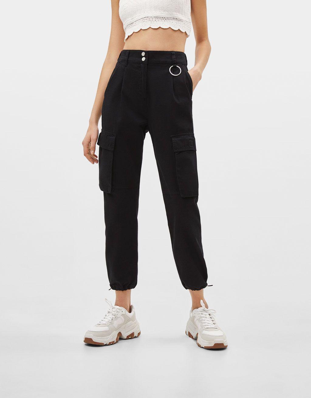 Cargohose Im Jogging Stil Entdecken Sie Diese Und Viele Andere Kleidungsstucke In Bershka Unter N Pantalones Bershka Pantalones Cargo Dobladillo De Pantalones