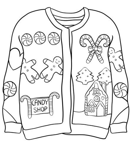 Sweater Coloring Page