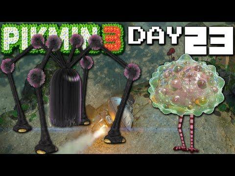 Pikmin 3 Mini Boss Mayhem Day 23 Nintendo Wii U Hd Gameplay