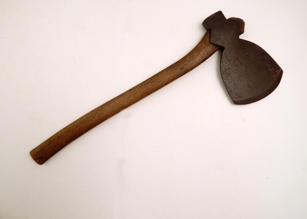 Antique Timber Framing Logging Log Hewing Broad Axe with Offset ...
