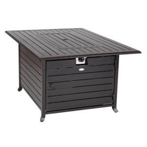 Fire Sense Longmont 49 In X 35 In Extruded Aluminum Rectangular Lpg Fire Pit 61898 Propane Fire Pit Table Fire Pit Table Outdoor Fire