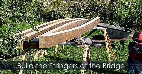 How To Build Stringers For A Garden Bridge   Backyard Bridge Building Steps    Water Garden