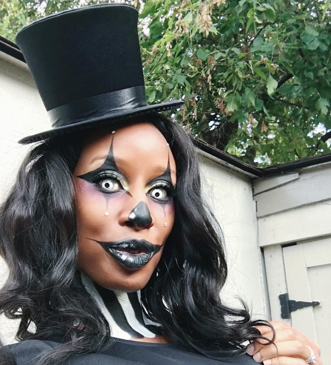 African American Clown makeup, Halloween makeup , black
