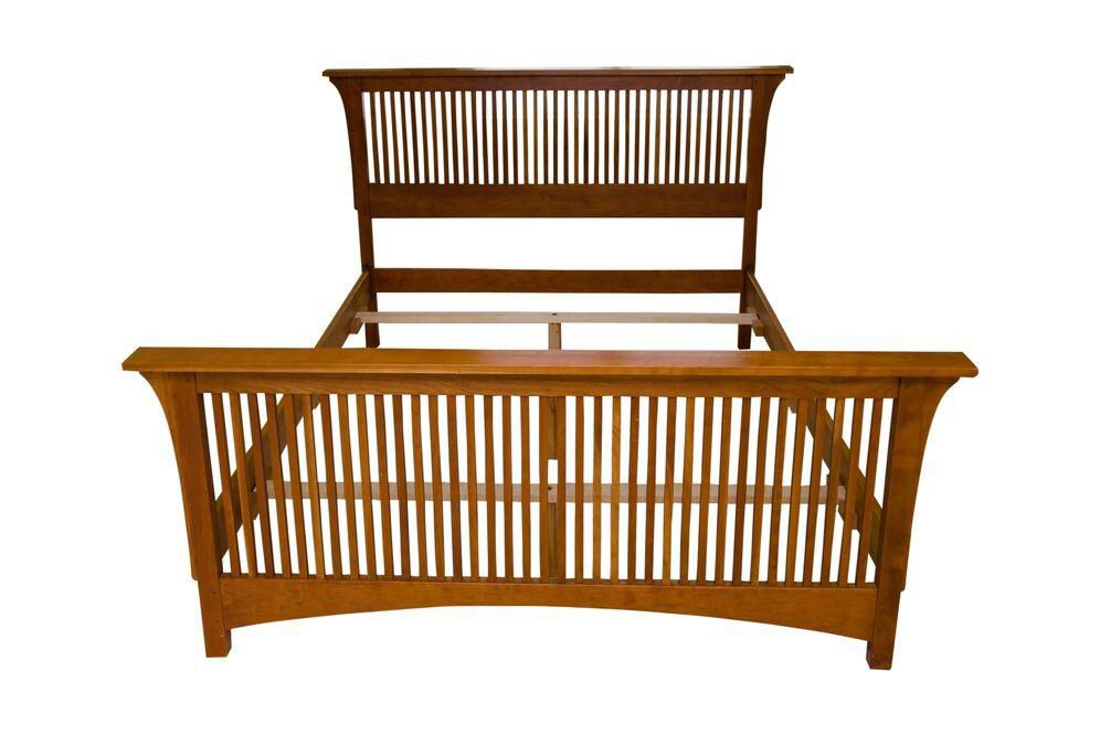 Queen-Size Stickley Spindle Bed on Chairish.com
