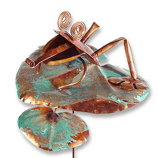 copper frog garden stake thinking of sue pinterest tall