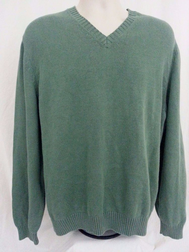 Brooks Brothers Men's V Neck Sweater size Large L 100% Cotton ...