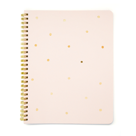 Gold Dot Notebook, Pink – Paper Luxe