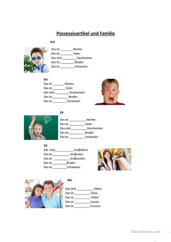 Familie Arbeitsblatt - Kostenlose DAF Arbeitsblätter | ALEMAN ...