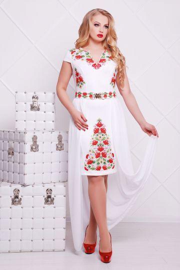 купить прямое белое платье большой размер