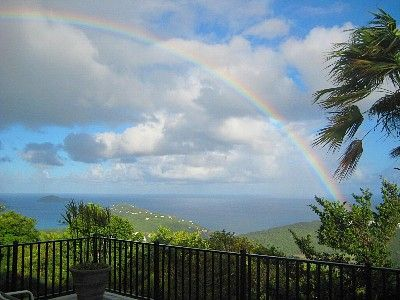 Stonegate - St. Thomas, Virgin Islands - gorgeous rainbow view! #HomeAway