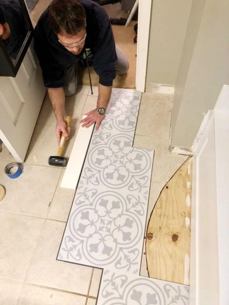 LVT Flooring Over Existing Tile the Easy Way Vinyl Floor