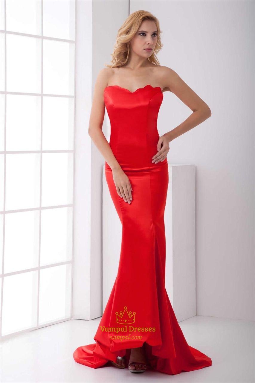 Red Mermaid Prom Dresses 2016,Slim Red Mermaid Prom Dresses ...