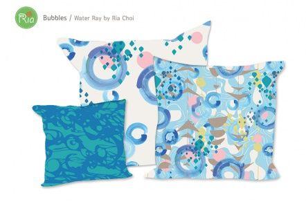 Ria Choi | Make It In Design | Surface Pattern Design | Summer School | Water Rays | Advanced brief 1