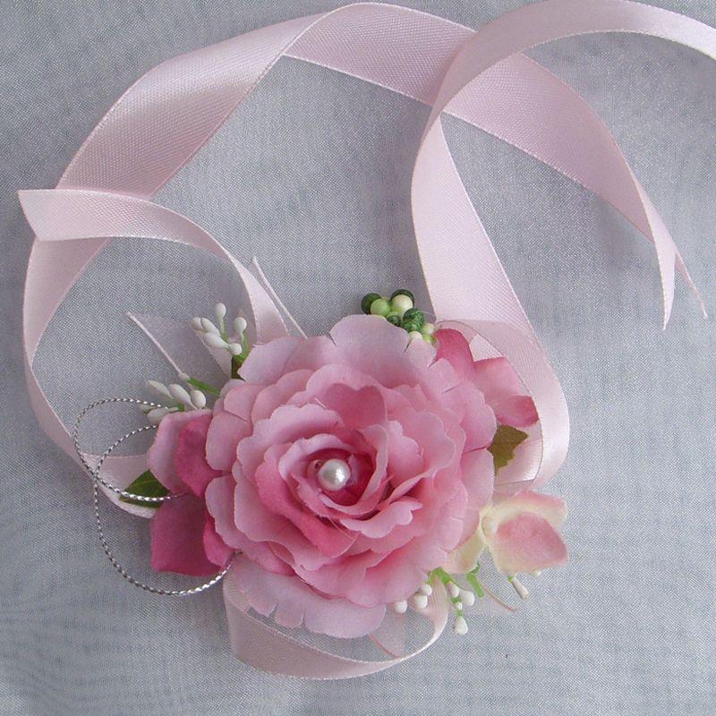 Cheap venta pink novia o la dama de honor mu eca corsage for Plantas decorativas artificiales df