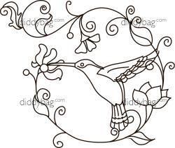 Diddybag Set 1149 - Semi-Exclusive Jacobean Hummingbirds