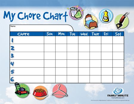 17 Best images about chore chart – Responsibility Chart Template