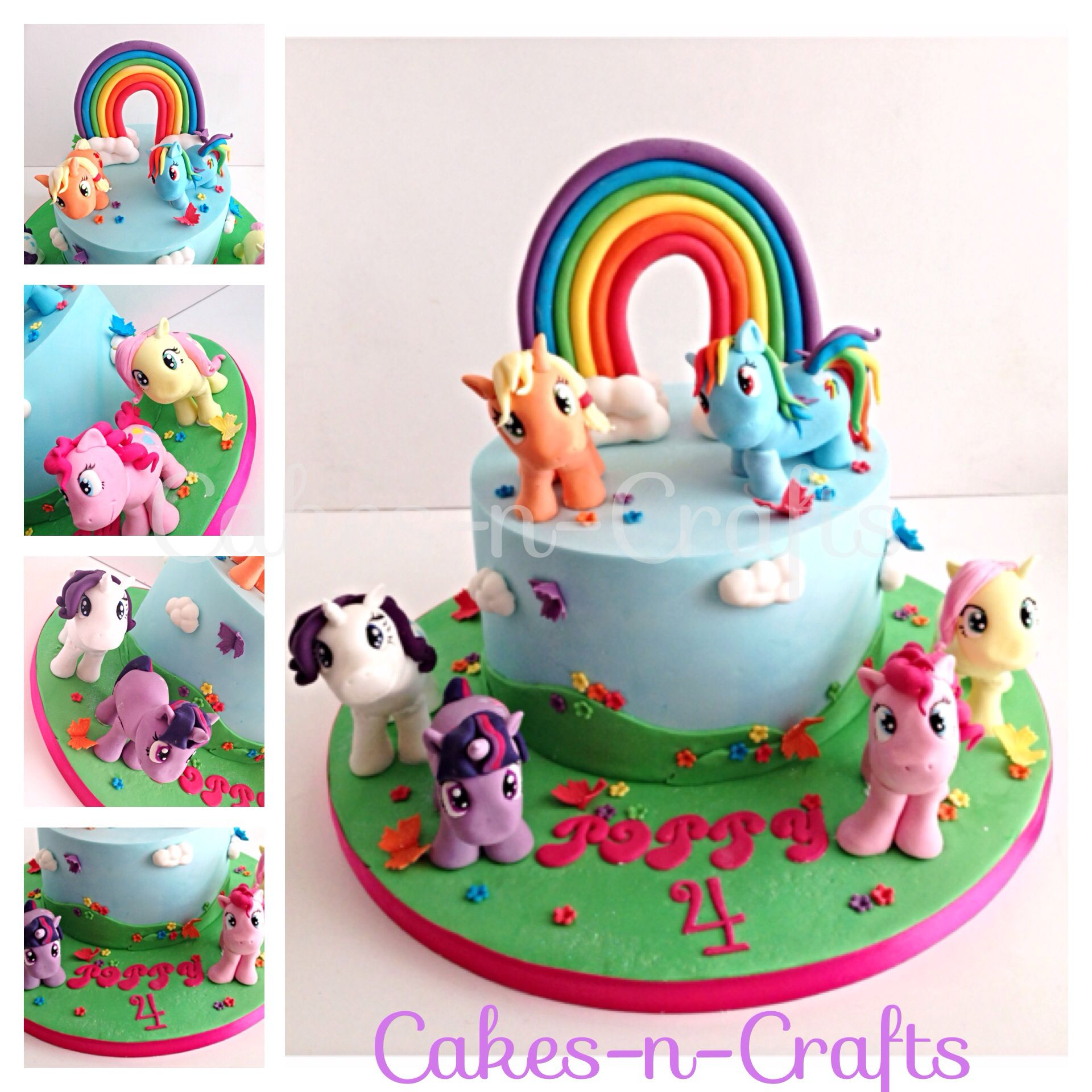 My little pony cake with edible sugar ponies Tortas Pinterest