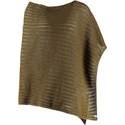 Photo of Women's linen knit stole Terka olive green Deerberg