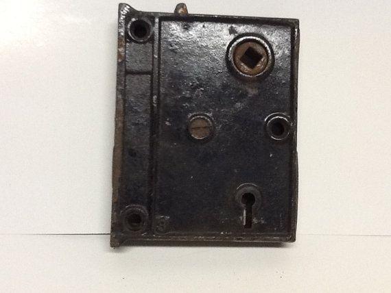 SALE///////Vintage antique door lock Victorian salvage old rusty detash - Vintage Antique Door Lock Victorian Salvage Old By Glassthatrocks