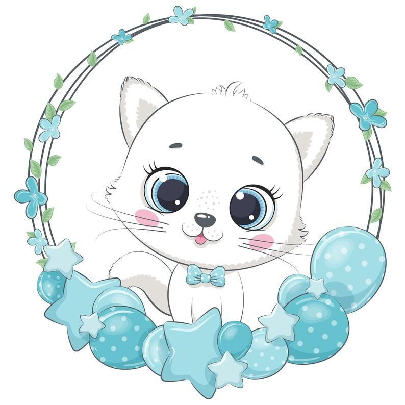 Baby Boy Animal With Wreath Clipart Png Eps Jpeg Cute Etsy In 2021 Baby Animal Drawings Cute Elephant Elephant Clip Art