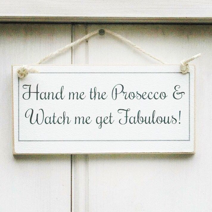 This House Runs on Prosecco Wooden Plaque Sign Home Gift Friend Christmas