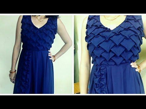 16c2e91fd How to make designer frock (ladies) with smocking - YouTube. Easy DIY Ideas  ...