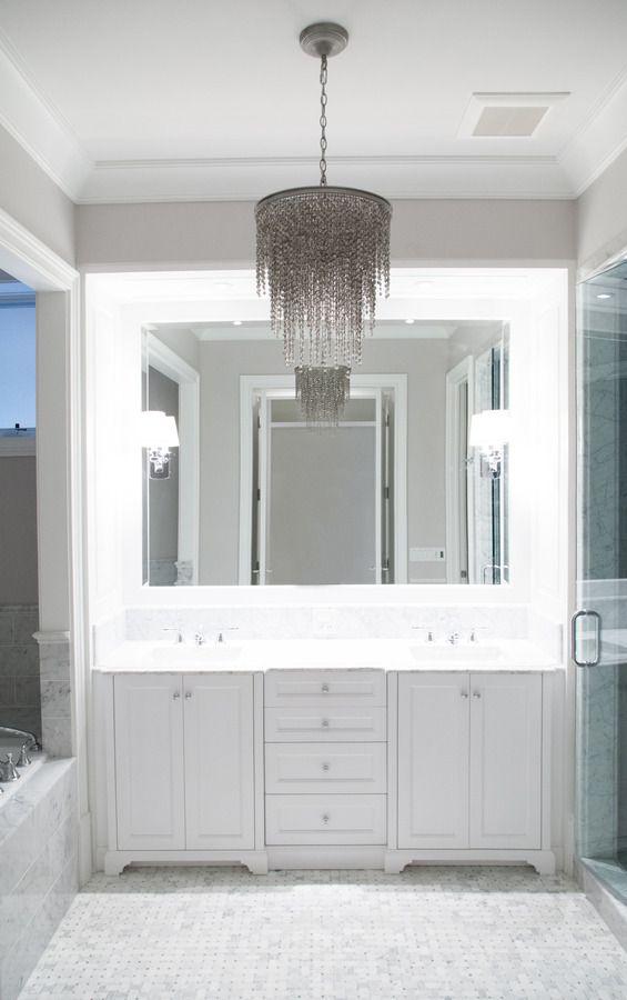 pld custom home builders love the unconventional bathroom lighting