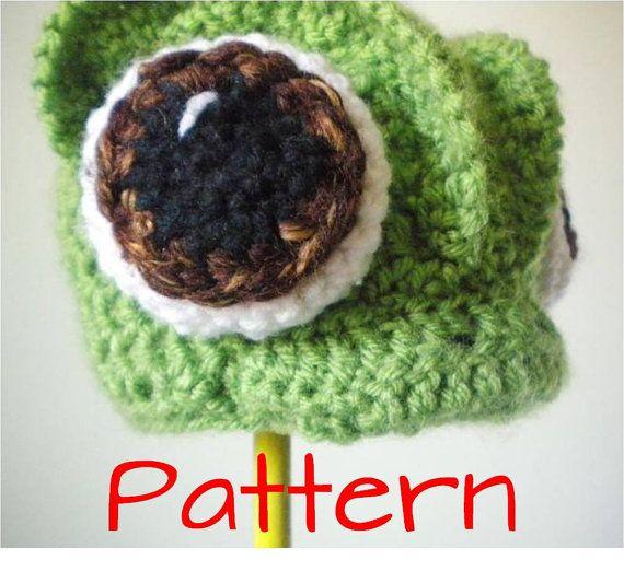 Crochet Hat Pattern Crochet Chameleon Animal by bitteroclock ...