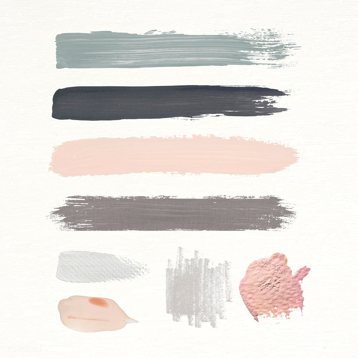 Download Premium Vector Of Pastel Brush Strokes Vector Collection