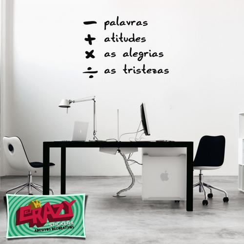 Adesivo decorativo - Frase Sinais e Palavras #adesivo #frase #decor #parede