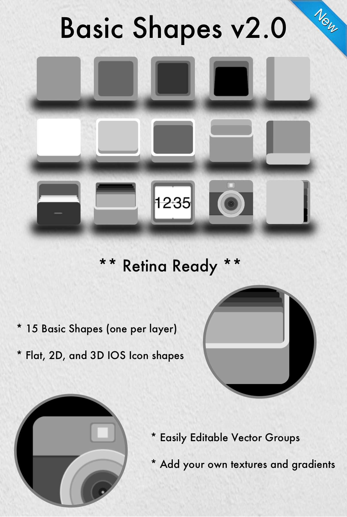 App Icon Template Basic Shapes v2.0 (2+) Basic shapes