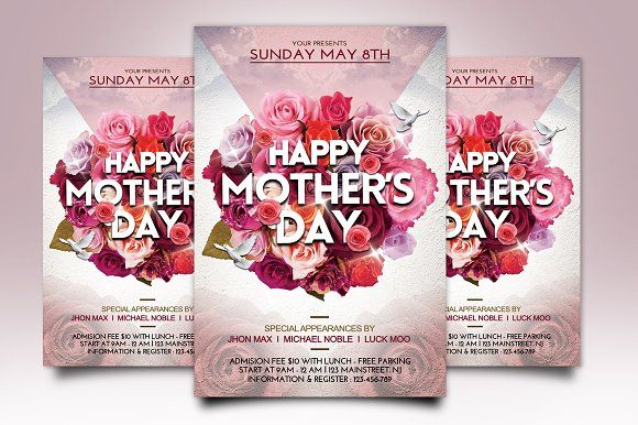 MotherS Day Flyer Template By Gayuma On Creativemarket  Design