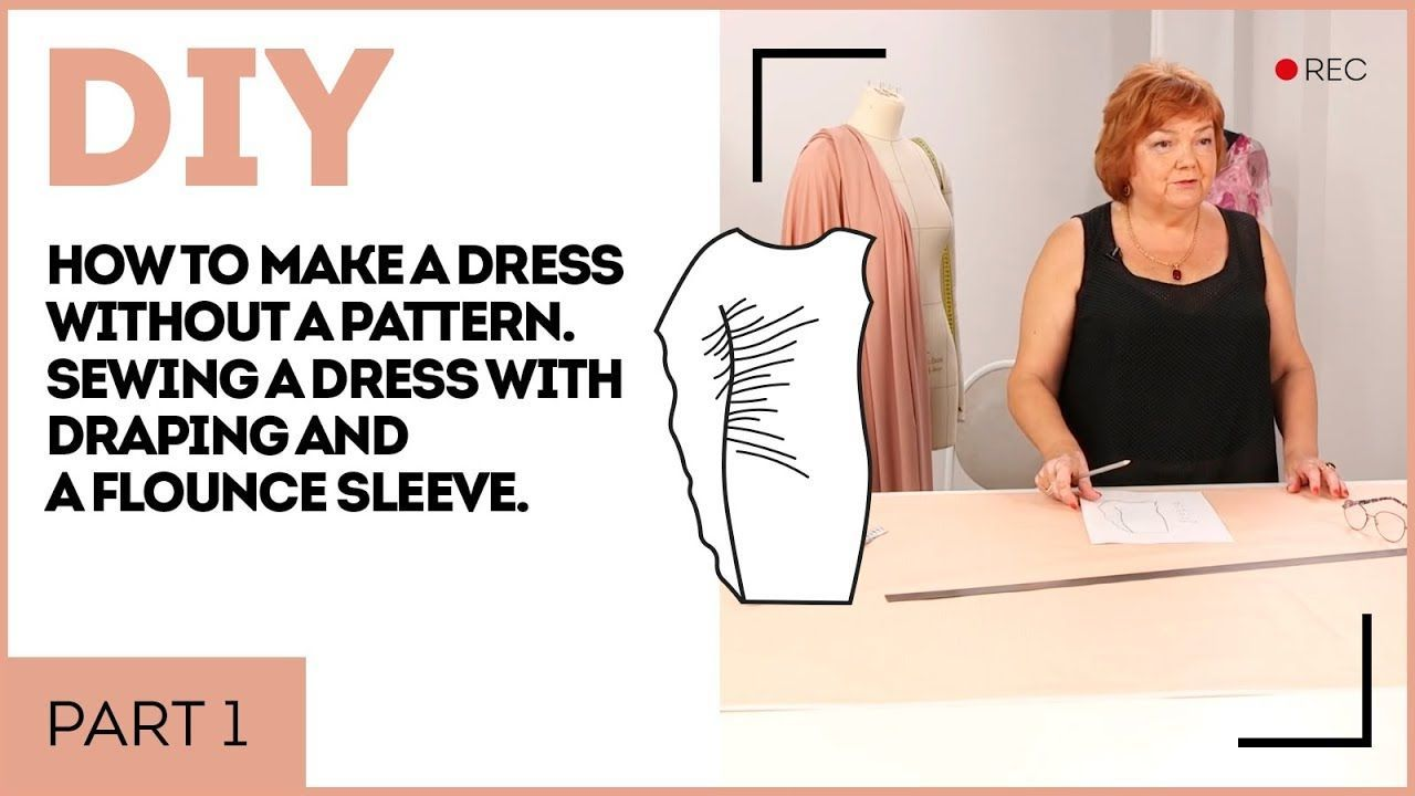 DIY How to make a dress without a pattern. Sewing a dress