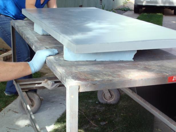 Concrete Countertop For A Workbench Concrete Countertops