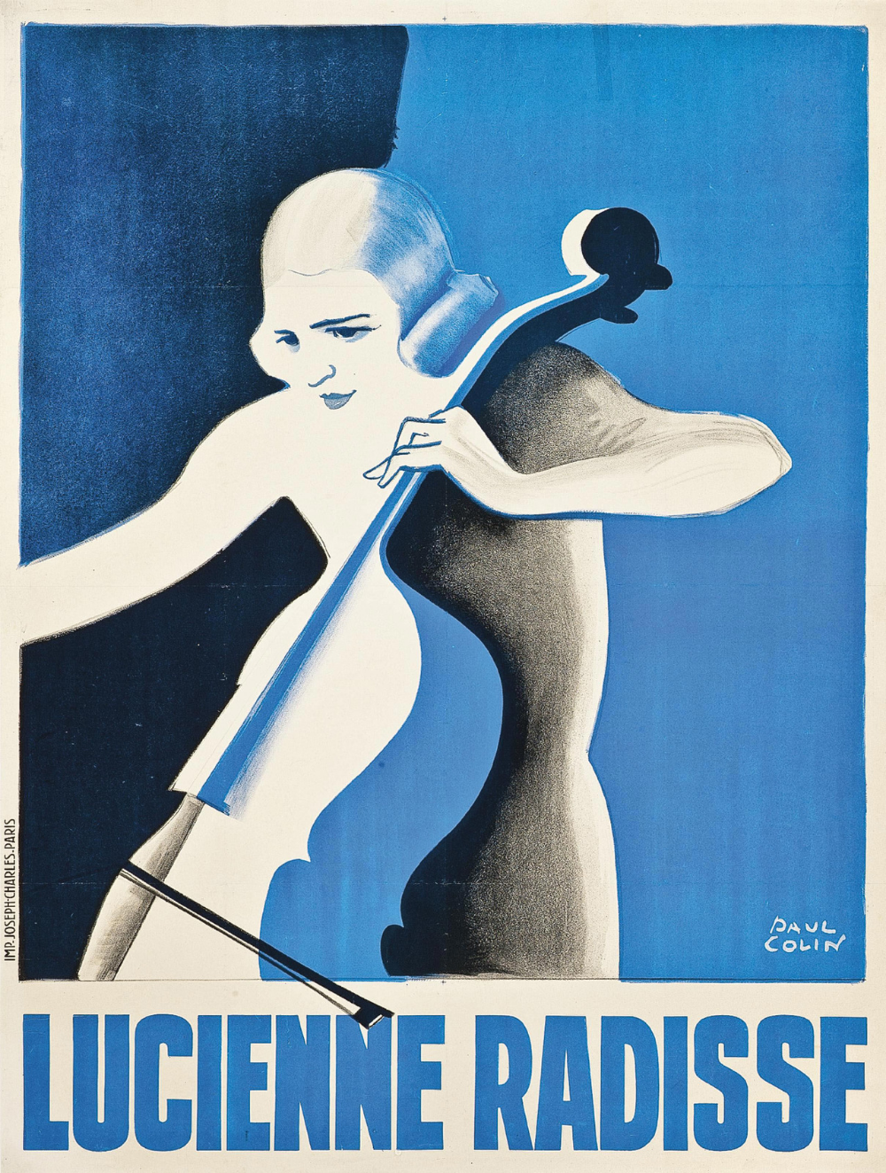 André Renaud VINTAGE AD POSTER Paul Colin FRANCE 1929 24X36 first rate