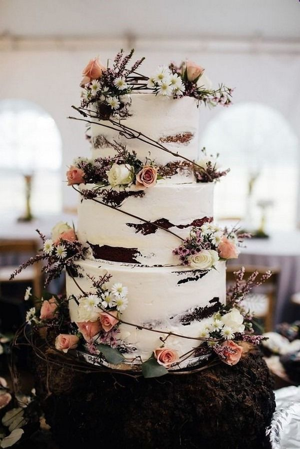 20 Country Rustic Wedding Cake Ideas - Oh The Wedding Day Is Coming