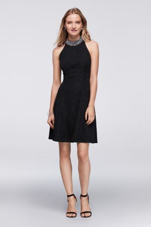 29++ Jeweled neck dress information
