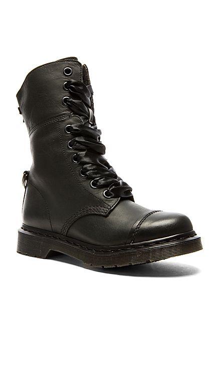 Dr. Martens Aimilita 9-Eye Toe Cap Boot in Black   REVOLVE