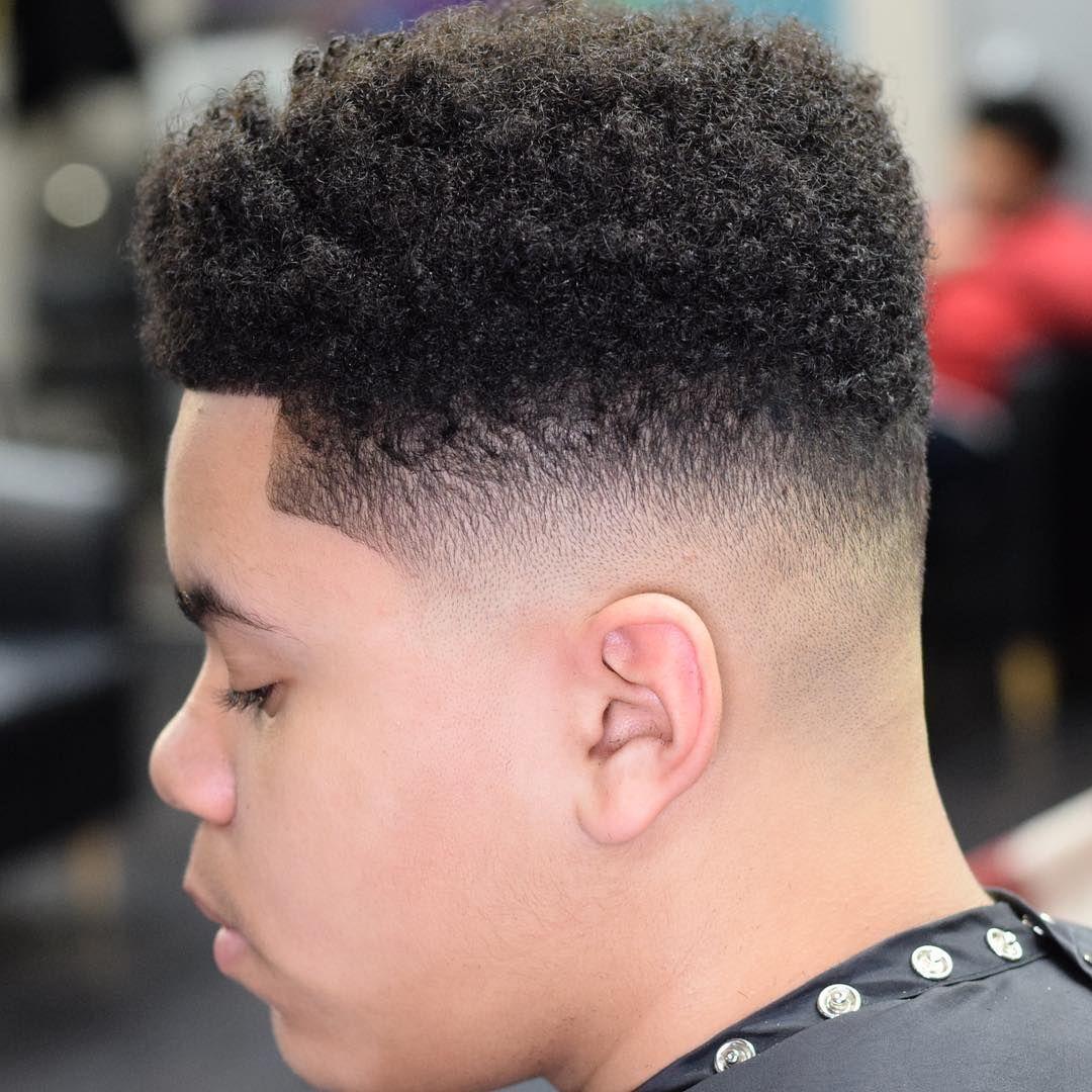 curly high top fade haircuts