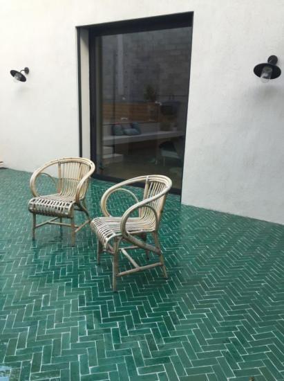 bejmat vert pour sol de salle de bain Au sol Pinterest - enlever carrelage salle de bain
