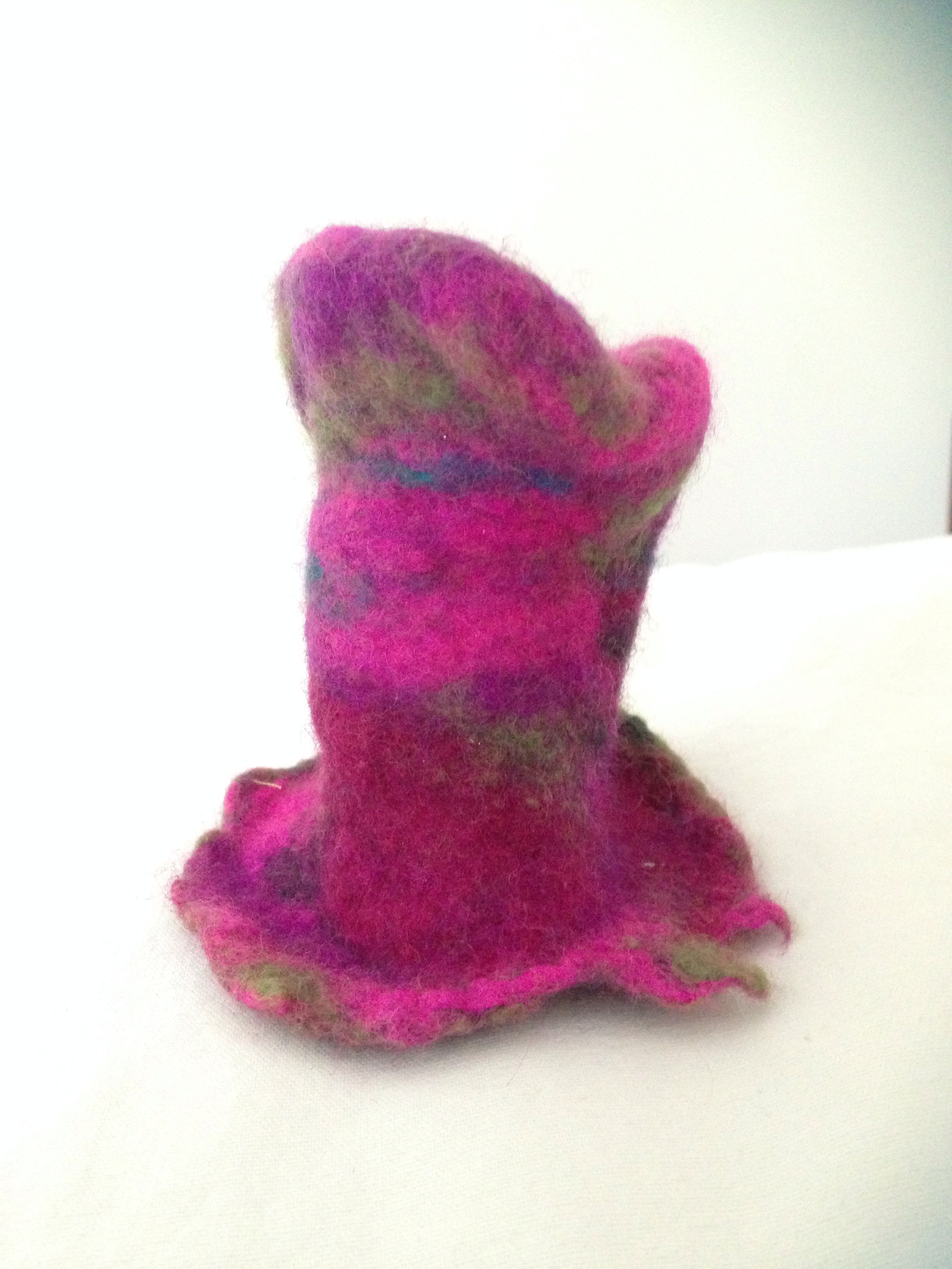 My first felting project a mini top hat thank you innerspiral for the tutorial!
