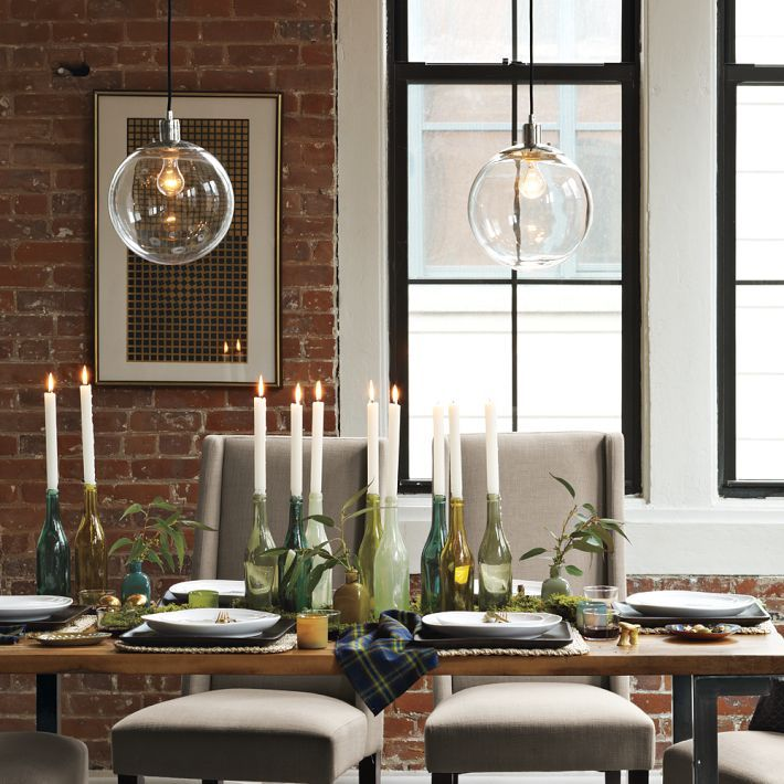 Kitchen Table Lighting: West Elm Pendant Lights. Over Kitchen Island?