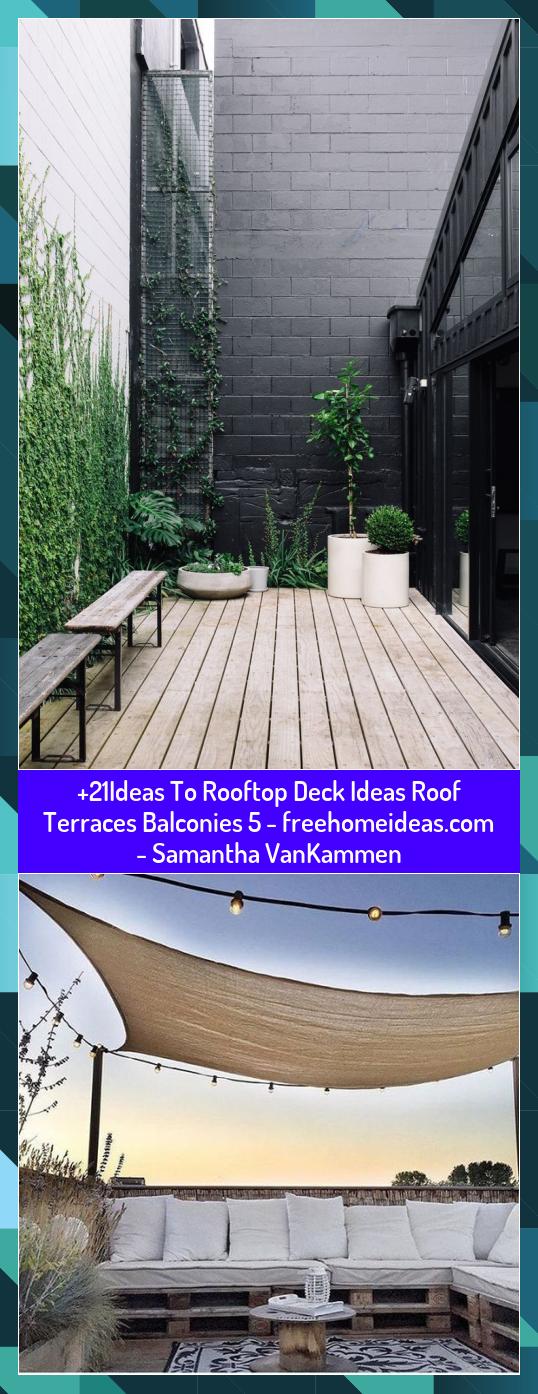 21Ideas To Rooftop Deck Ideas Roof Terraces Balconies 5   Samantha VanKammen