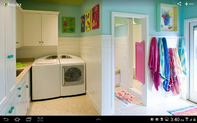 Showers and laundry