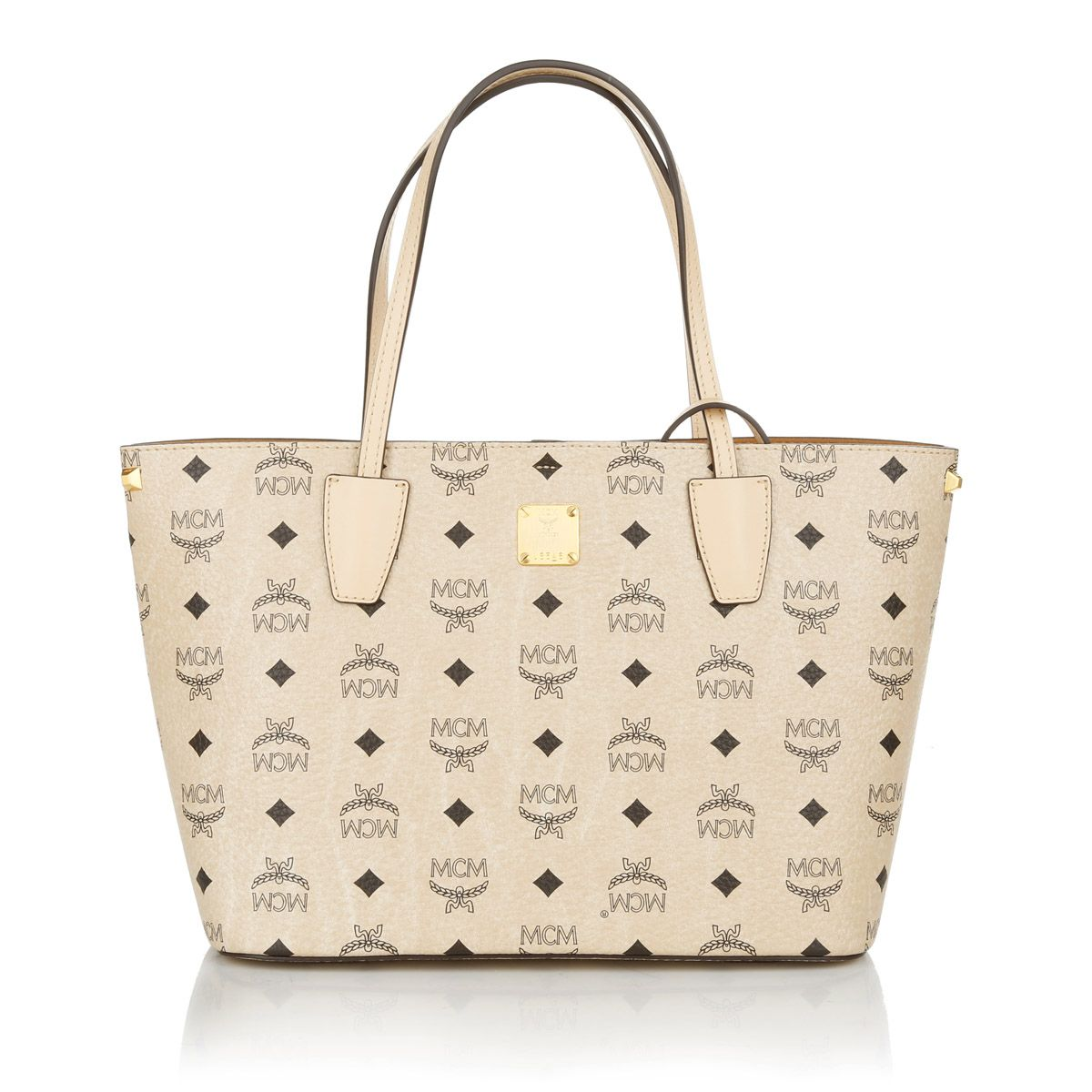 The bag for business: MCM Project Visetos Shopper Small Beige Shopper byFashionette