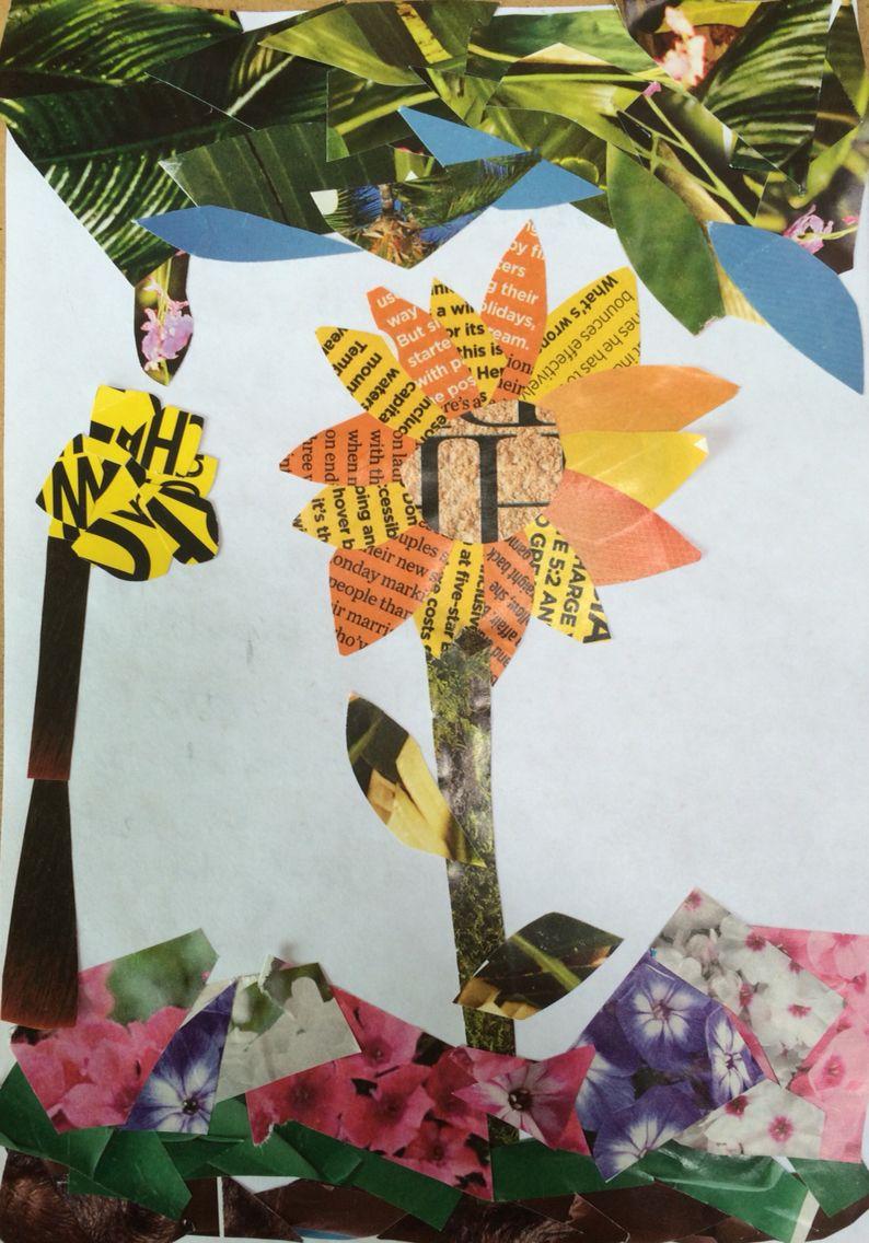 Emmie Paper Collage Flower Homework St Marys Catholic High School