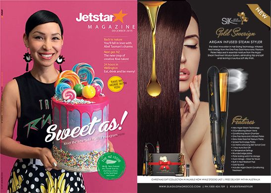 Silk Feature on-board #Jetstar ! This product is flying off the shelves!!! http://www.silkoilofmorocco.com.au/product/argan-infused-professional-steam-styler/ #silksteamstyler