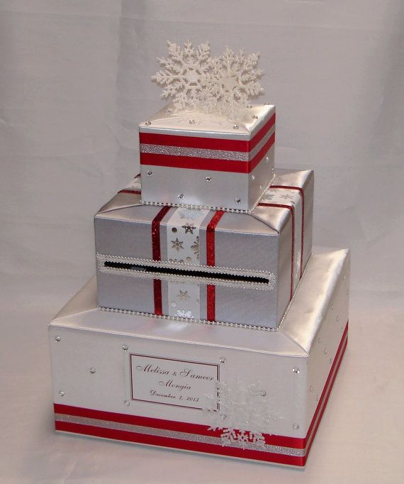 Winter Theme Wedding Card Box Snowflakes Any By Exoticweddingbo