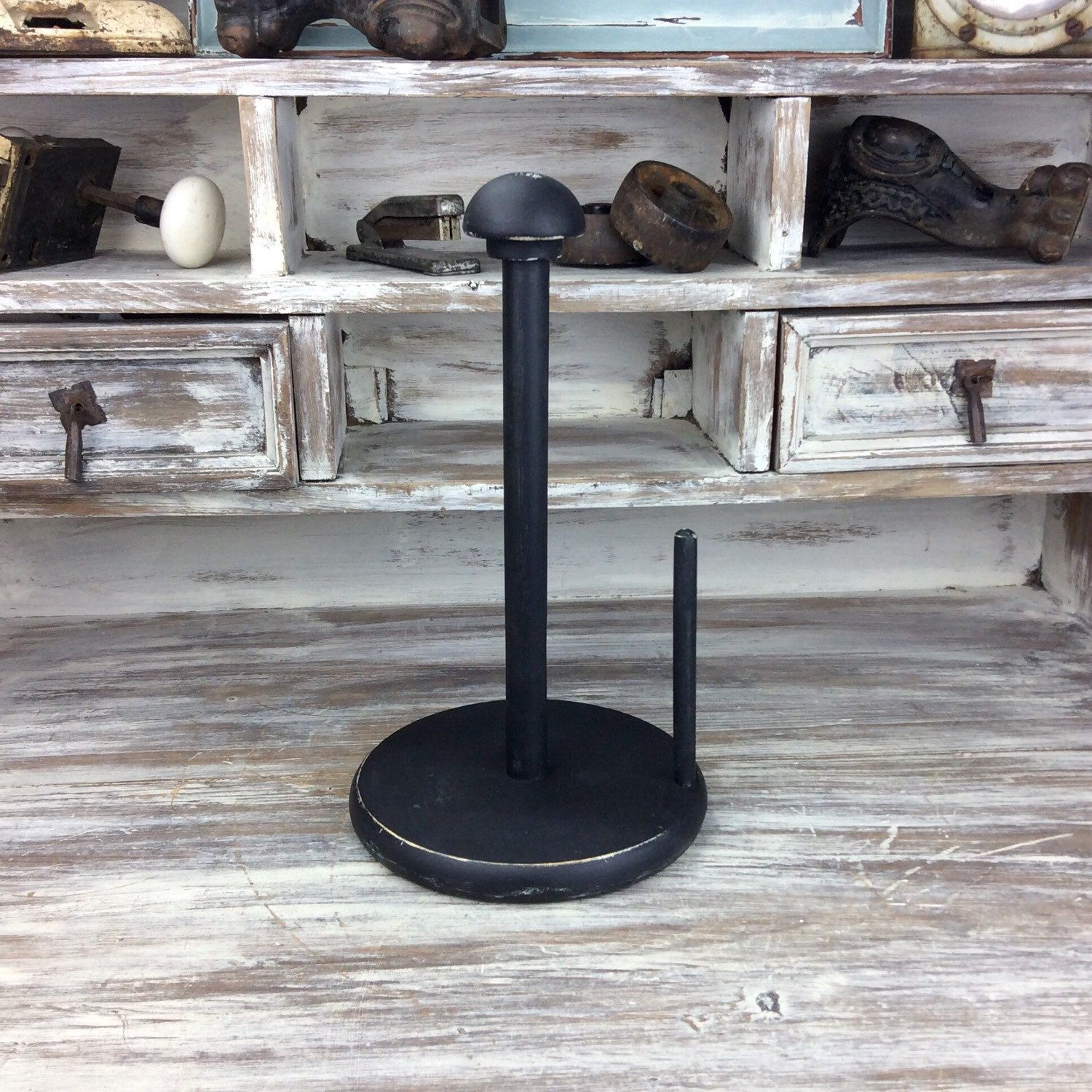 rustic papertowel holder paper tower storage black rustic