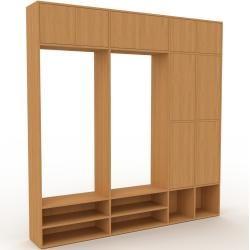Photo of Wohnwand Eiche – Individuelle Designer-Regalwand: Türen in Eiche – Hochwertige Materialien – 229 x 2